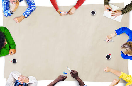 group discussion: Group of Diverse Multiethnic People Brainstorming Stock Photo