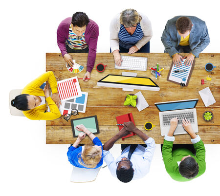 asian business meeting: People Working in the Office Photos and Illustration Stock Photo