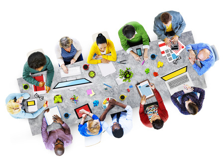asian man laptop: Designers Working in the Office Photo and Illustration Stock Photo