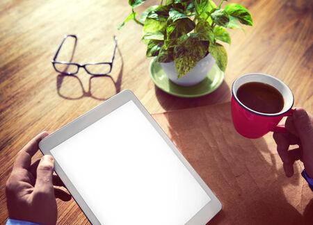 mang: Mang Using Digital Tablet in the Office