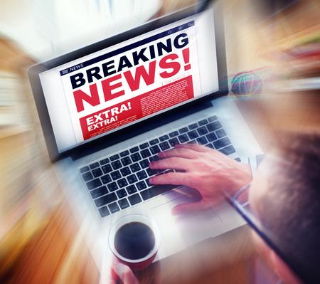 urgent announcement: Digital Online Breaking News Headline Concept