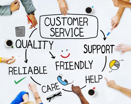 Groep van mensen en Customer Service Begrippen