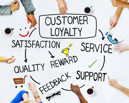 customer: Group of People and Customer Loyalty Concepts