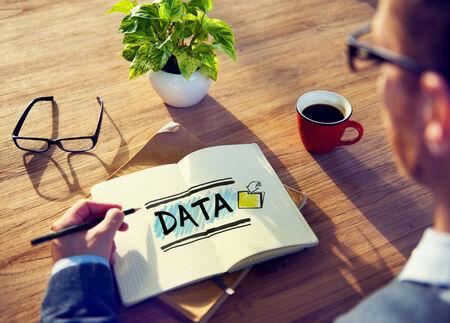 big break: Businessman Brainstorming About Data Stock Photo