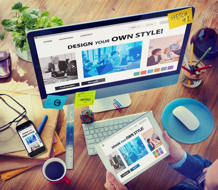 Designer trabalhar no computador