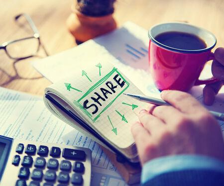 single word: Businessman Single Word Share Concept
