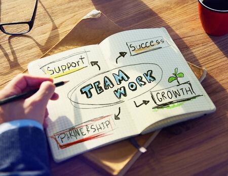 personal perspective: Personal Perspective of a Person Planning for Teamwork Stock Photo