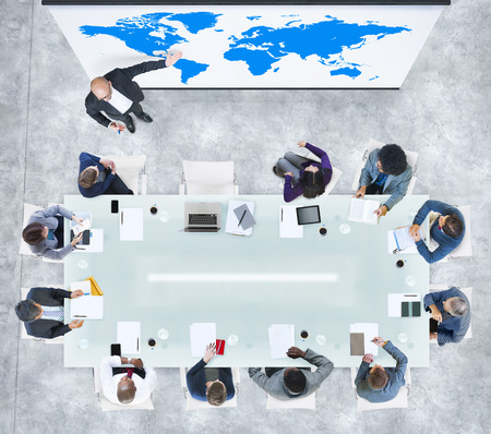 multiethnic: Global Business Presentation in a Contemporary Office