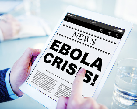breaking news: Digital Online Report Breaking News Ebola Crisis Concept