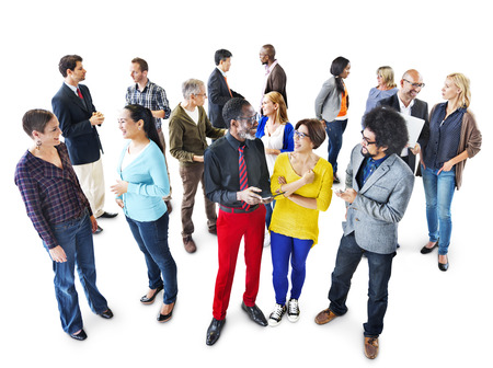 Group of Multiethnic Business People Discussing Stock Photo
