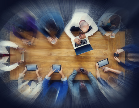 conference table: Business People Conference Table Meeting Concepts