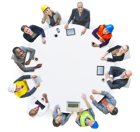 various occupations: People with Various Occupations in a Conference Stock Photo