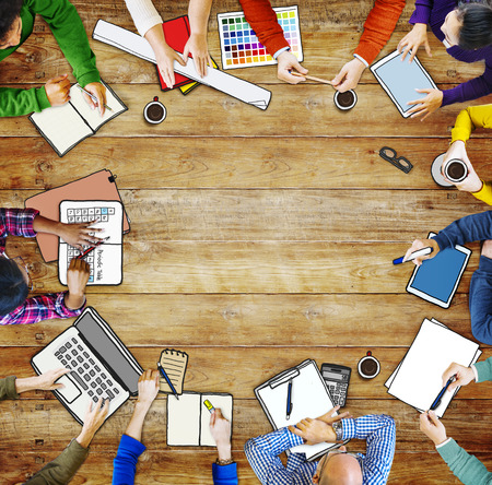 medium group of people: Diverse People Working and Copy Space