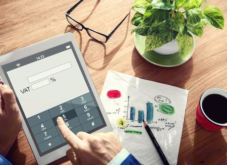 tax law: Digital Online VAT Business Tax Concept