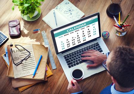 zeitplan: Kalender Zeitgenössisch Digital Device Konzepte