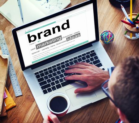 Digital Dictionary Brand Marketing Ideas Concept Archivio Fotografico