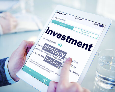 place to learn: Digital Dictionary Investment Strategy Funding Concept