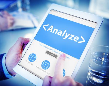 to analyze: Digital Online Analyze Plan Research Working Concept