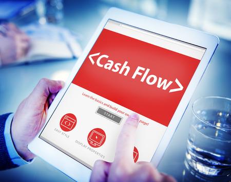 cashflow: Cashflow Investing Banking Money Revenue Investment Concept