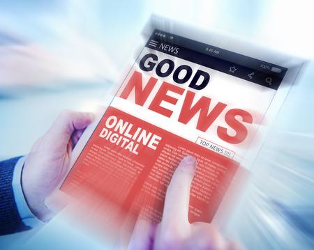 Digital Online Update Good News Concept Archivio Fotografico