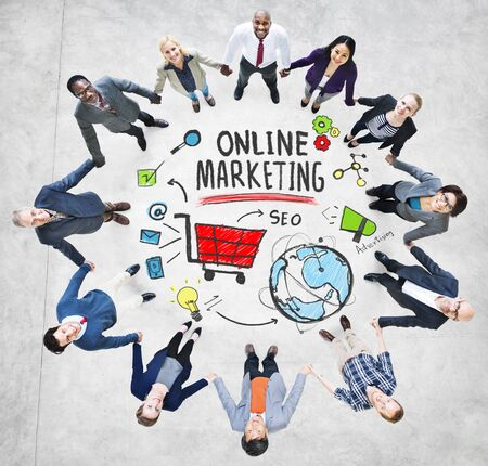 online marketing: Online Marketing Business Global Purchase Networking Connection Concept