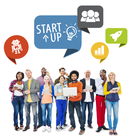 Diverse People and Startup Business Concept photo
