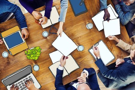 meeting table: Diverse Business People Working in a Conference