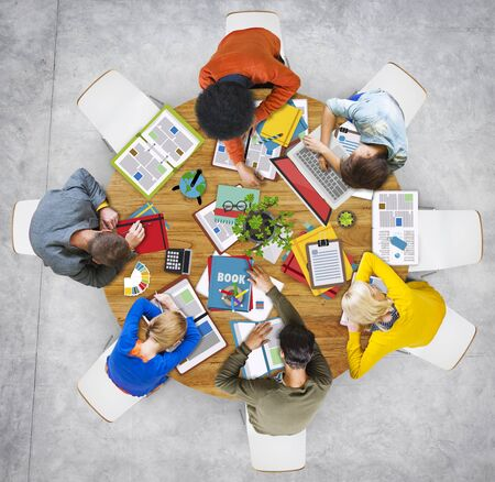 boredom: Aerial View of People Sleeping on the Table