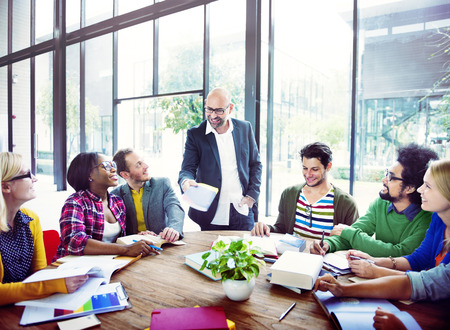 casual: Diverse Casual Business People in a Meeting