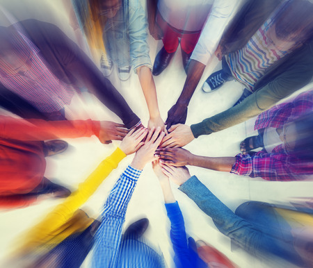 friendship circle: Group of People Hands Clasped Concept