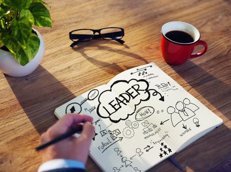 Zakenman schetsen over leiderschap Concept