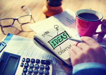 accountant: Businessman Writing Ideas Creative Concept