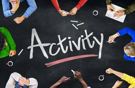 Multi-Ethnic Group of People and Activity Concept