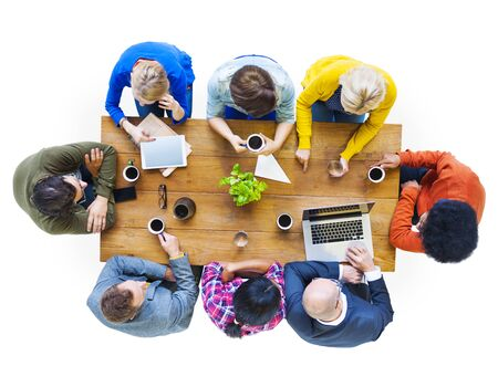Diverse People and Social Networking Concepts photo