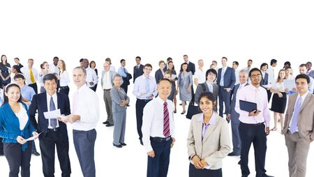 Multi-ethnic group of business person photo