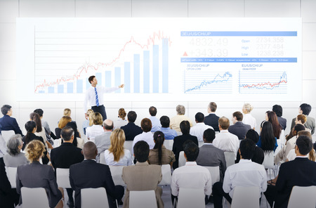 out of business: Business Presentation Stock Photo