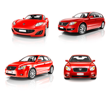 three dimensional   shape: 3D Collection of Luxury Red Sports Car
