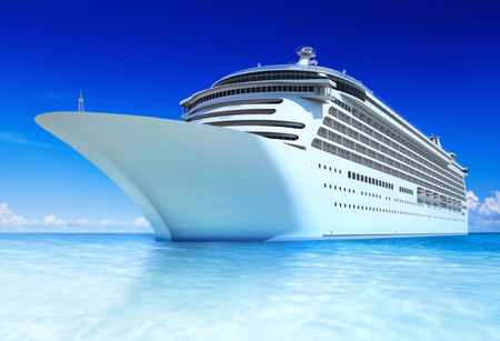 Cruise ocean and blue sky. Stock Photo
