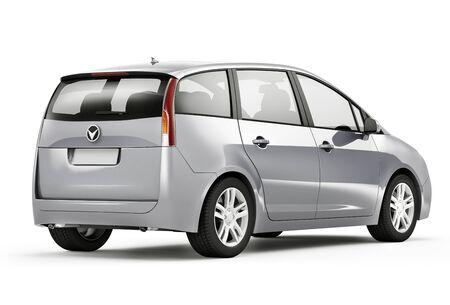 mpv: Silver Car