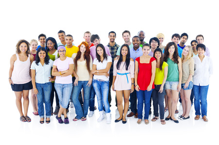 Large group of people Stock Photo - 35339950