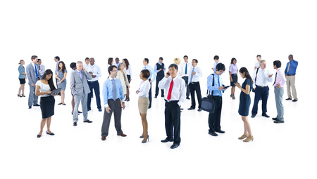 large group of business people: Large Group of Business People Talking Stock Photo