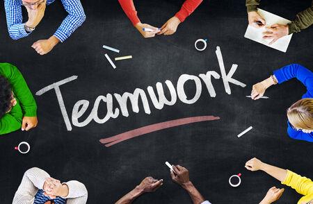 trabajo en equipo: El grupo de personas y conceptos del trabajo en equipo