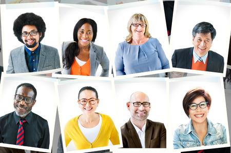 Foto's van diverse groep mensen Stockfoto