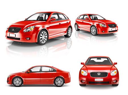 3D-collectie van luxe Rode Sportwagen