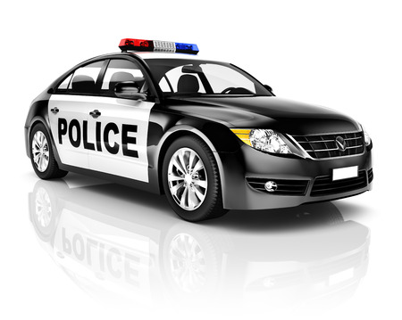 light reflection: Police Car