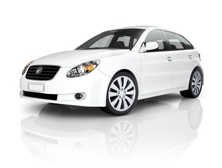 White Luxury Vehicle Reklamní fotografie