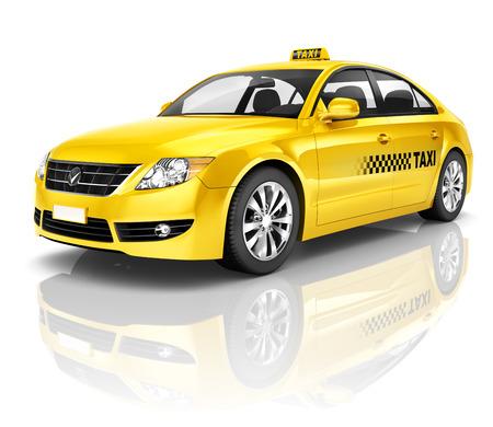 a yellow taxi: Taxi