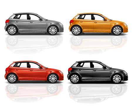 hatchback: Set of 3D Hatchback Car.