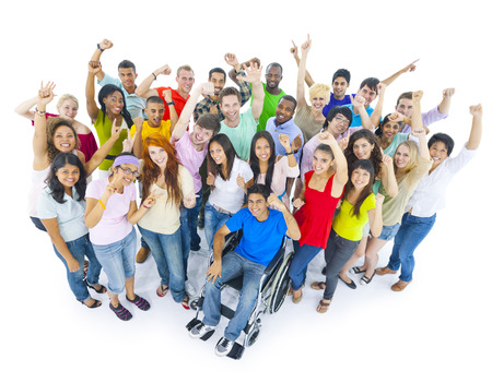 Large Group of People Celebrating Фото со стока