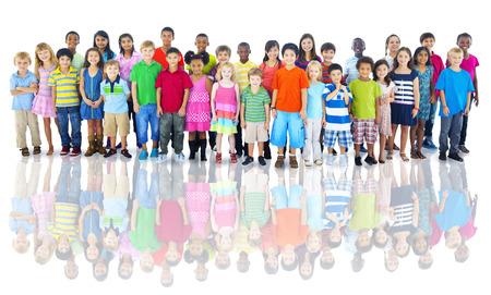 diverse students: Diverse Group of Children Studio Shot